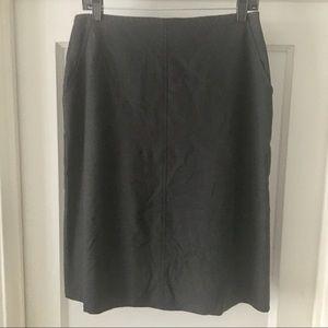 Max Studio Gray Pencil Skirt with Pockets